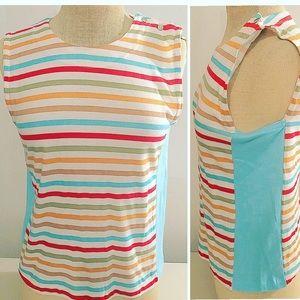 Vintage deadstock stripe tank top mod shirt retro